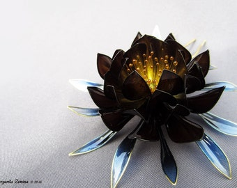 "Epiphyllum ""Ice and Flame"". Hair stick. American flower, Resin flower, Resin kanzashi. Can make to order (for 2 weeks)"