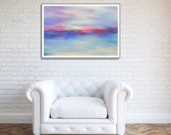 Art Purple Wall Art Large Art, Blue Wall Art Affordable Art Print,Abstract Print, Purple Canvas Art Print,Bedroom Art Print INSTANT DOWNLOAD