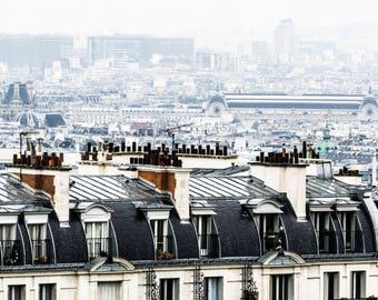 Paris Skyline - Paris Rooftops - Wall Art Print - Paris Decor - Architecture - Fine Art Photography - French Decor - View Over Paris - 0017