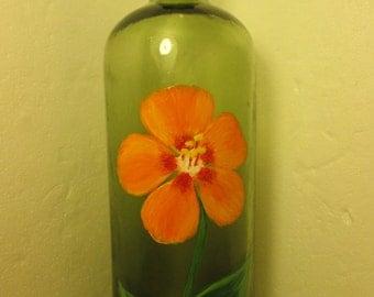 Orange Flower on BITTERWASSER Bottle