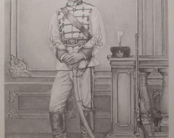 Revolutionary 1863 Original fine art,Apostle of Freedom,Vasil Levski