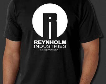 New Reynholm Industries The I.T. Crowd Geek Maurice Moss Black t-shirt S-6XL