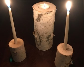 Birch Unity Candle, Wedding Candles, White Birch Candles, Unity Candle, Rustic Unity Candle, Rustic Wedding Candle, Birch Wedding Candle