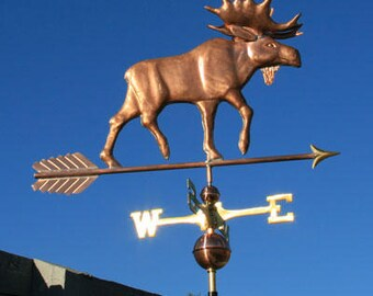 Copper Moose Weathervane - BH-WS-101
