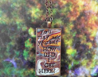 Talking Heads Once in a Lifetime Pendant Necklace