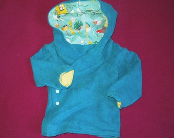 Organic Fleece fold over Kids Jacket 12-24 Month