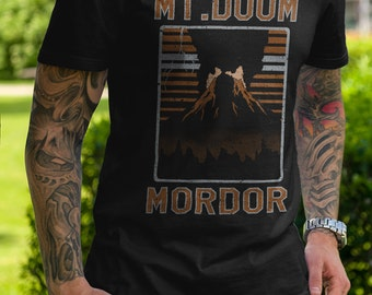 Mount Doom Volcanic Recreational Area T-shirt - LOTR Travel and National Parks Vintage Parody Clothing