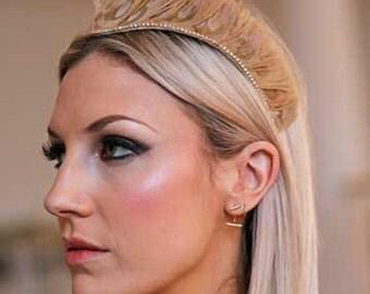 Bridal Tiara / Wedding Headpiece / Wedding Tiara / Bridal Headpieces / Tiara / Feather headpiece / Feather tiara / Hair accessories