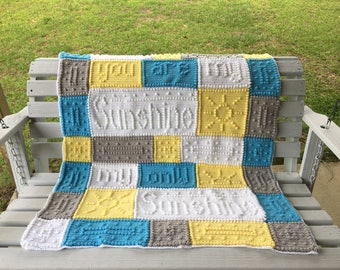You Are My Sunshine Baby Blanket - Made to Order