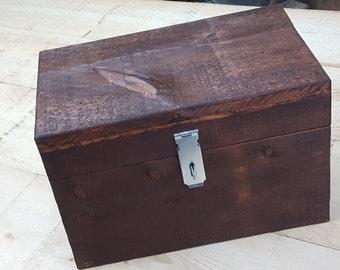 Raw wooden chest