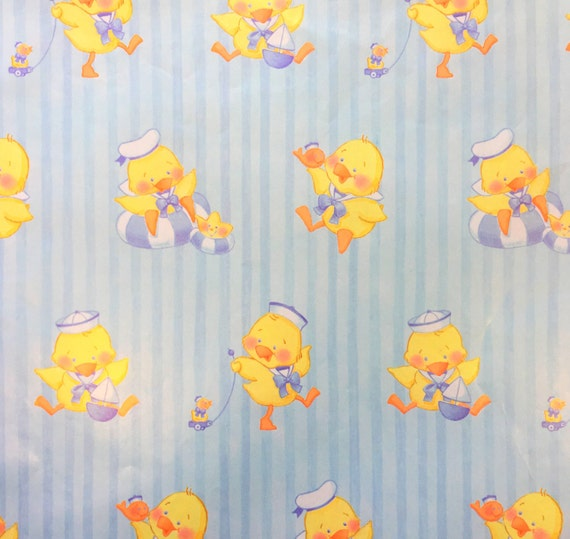vintage gift wrap, vintage baby shower wrapping paper, sailor baby, Baby shower invitation