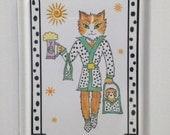 Cat Attitude Fridge Magnet - Fridge magnet - Magnet Kitty - Kitty Magnet