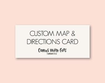 Custom Designed Map and Directions card / wedding invitation suite / affordable printable wedding / digital file