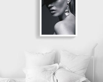 Miss Moss | Kate Moss Fashion Poster Printable Digital File | Instant download | Fashion photography | Cigarette art print