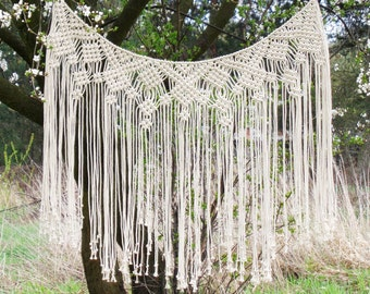 Macrame Curtain, Boho, Boho Decor, Macrame Wall Hanging, Bohemian, Hippie Decor