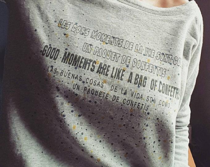 """Women grey """"confetti"""" printed Sweatshirt"""