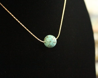 Turquoise Necklace, Single Bead necklace
