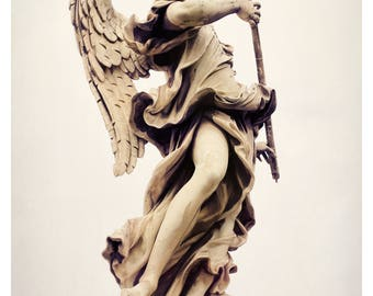 Rome photography, Rome Italy, Ponte Sant'Angelo, Italy wall art, fine art photography, angel statue, travel photography
