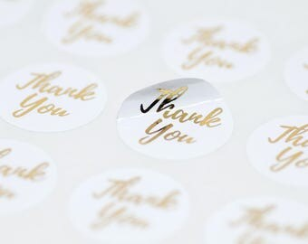 28 Thank You Stickers, Gold Foil,Product Packaging,Envelope Seals,Gold Foil Stickers,Address Labels,Packaging Stickers,Shipping Stickers
