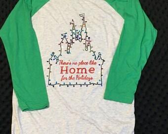 Disney Christmas Shirt ;; There's no place like Home for the Holidays // Mickeys Very Merry Christmas Party Shirt // MVMCP // Disney Shirt