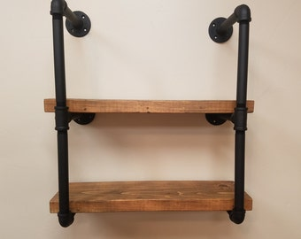 Pipe Shelving Unit, Industrial Style Shelving
