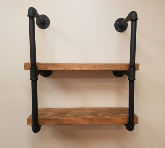 pipe shelving unit industrial style shelving. Black Bedroom Furniture Sets. Home Design Ideas