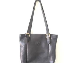 90s Vintage Guess Leather Purse / 90s Black Purse
