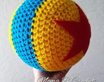 Crochet Pixar Ball, Pixar Ball, Crochet Luxo Ball, Luxo Ball