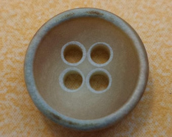 11 small buttons 11mm light brown Turquoise (452e)