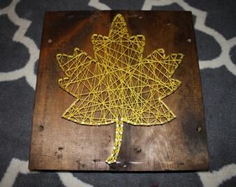 Yellow Leaf, String Art