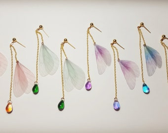 Fairy wings, Fairy Earrings, Mermaid tears, Teardrop earrings, Summer earrings
