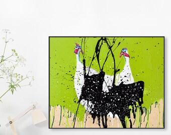 Wild Turkey Print ,Poster Giclee Print ,Turkey Art Painting ,Wood Print ,Giclee Print Of An Original Oil Painting On Wood #501PN