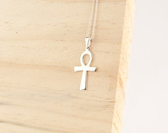 Leara Silver Ankh Pendant, Sterling Silver, Ankh Necklace, Silver Ankh Necklace, Ankh Jewelry, Crux Ansata, Breath Of Life Pendant, Egyptian