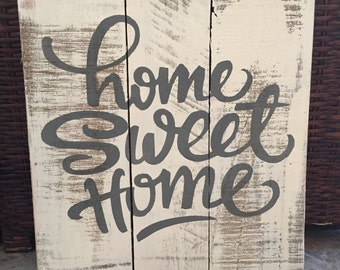 Home Sweet Home wood sign, Housewarming Gift, Rustic Home Sign, Home Decor Sign, Wedding Gift, Wall Art, Rustic Sign, Home, pallet wall art