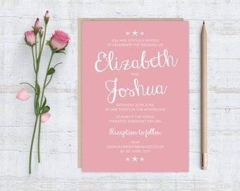 Printable (DIY) LITTLE STARFISH Wedding Invitation Stationery Set - Coloured Background