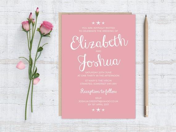 Starfish Wedding Invitation Kit: Printable DIY LITTLE STARFISH Wedding Invitation Stationery