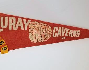 Luray Caverns - Vintage Pennant