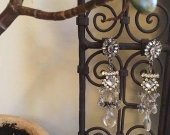 Starry Night Earrings *MOTM Disco Queen Collection* Vintage Drop Earrings
