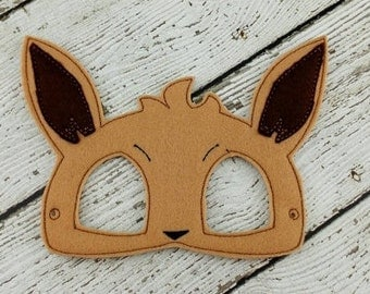 Pokemon Inspired Eevee Mask - Party Favor - Dress Up - Pretend Play - Halloween - Costume