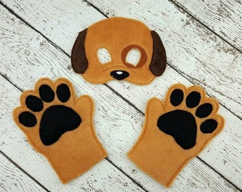 Furry Puppy Mask and Paws