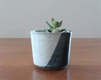 Tri-Tone Cup // Black and White Cup // Succulent Pot // Handmade Ceramic Cup // Small Ceramic Tumblers // Espresso Cups