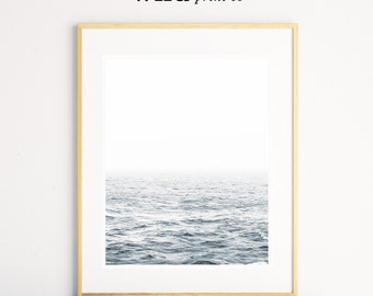 Ocean Print, Ocean Wall Art, Beach Decor, Modern Art, Minimalistic Art, Ocean Photography Print, Printable Art