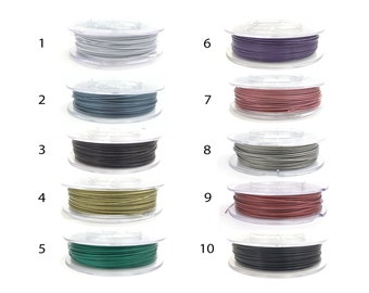 1mm Nylon Coated Stainless Steel Wire, Memory Wire, Tiger Tail, Beading Wire, Jewelry Wire, Craft Wire, DIY, 10 Colors