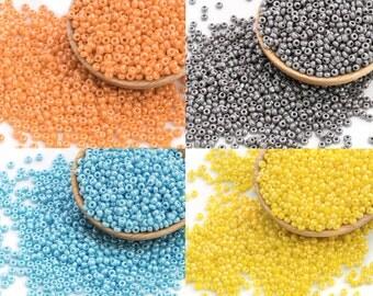 30g 11/0 Czech Seed Bead, Tiny Glass Bead, Spacer, Rocaille, Embroidery Bead, Bulk Seed Bead, RN