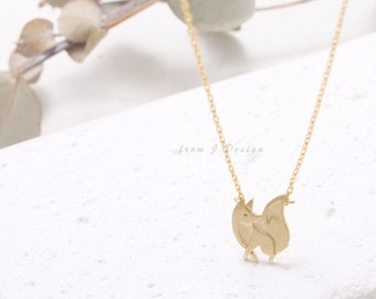 Dainty Fox Charm Necklace