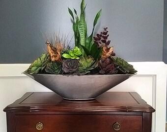 Succulent planter, permanent floral