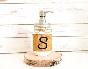 Bathroom Soap Dispenser- Soap Dispenser- Mason Jar Soap Dispenser- Rustic Bathroom Accessories- Kitchen Soap Dispenser- Mason Jars Bathroom