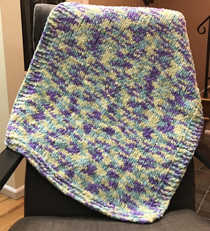 Hand-Knitted Chunky Baby Blanket // Bernat Baby Blanket Yarn