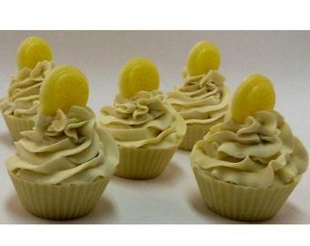 Lemon Cupcake Soap 4.0oz - Vegan Soap - Palm Oil Free - Kaolin Clay - Artisan Soap - Gift Ready Muslin Bag