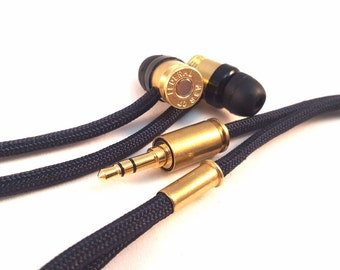 Double Tap R1 Durable Bullet Earbuds - Made in USA - Black